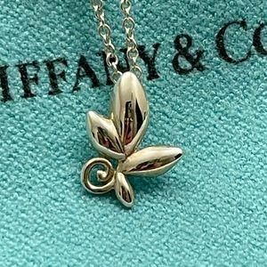 Tiffany & Co. Olive Leaf Pendant Necklace